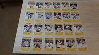 1989-90 Buffalo Sabres Blue Shield Complete Set of 24 Postcards - SCARCE