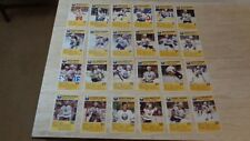 1989-90 Buffalo Sabres Blue Shield Complete Set of 24 Postcards - SCARCE