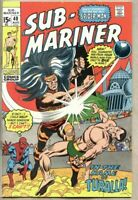 Sub-Mariner #40-1971 vg- 3.5 Submariner Vs Spider-Man