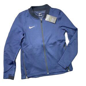 Nike Therma Flex Basketball Women's Medium Full  Zip Navy Jacket AT5415-419 New