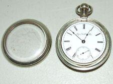 Antique Working 1889 ELGIN G.M. Wheeler Victorian Silver Gents Pocket Watch 18s