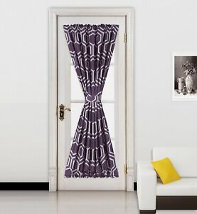 """1PC CHEVRON DESIG FRENCH DOOR CURTAIN PANEL LINED SIZE 55""""W X72""""L NEW STYLE MEME"""