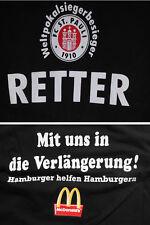 FC St. Pauli T-Shirt >RETTER  Weltpokalsiegerbesieger< >McDonald´s< XL, schwarz