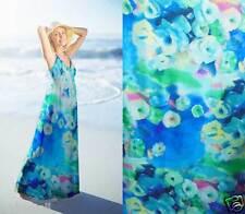 100% pure silk sheer chiffon floral fabric 6 momme per  yard print sheer 30122