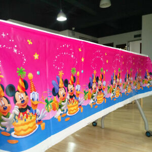 All theme Birthday Disney Cartoons Party Table Cover Tablecloth Decorations