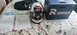 HJC RPHA 70  RPHA70 BALIUS WHITE  SPORTS TOURING Full Face Motorcycle  Helmet