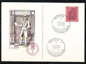 Germany 1961 FDC cover Mi 365 Sc 842 Messenger of Nuremberg.Postal history