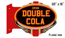 "Cola Double Drink Reproduction Laser Flange Nostalgic Sign 24 ""x 20"""