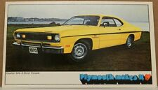 PLYMOUTH DUSTER HEART 340 MAKES 1970 70 MOPAR DEALER PROMO DEALERSHIP POSTCARD