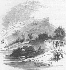 INDIA. Powanghur & Punalla, antique print, 1845