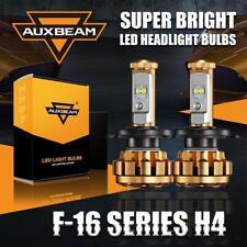 Auxbeam H4 HB2 9003 High Low Motorcycle Car LED Headlight Bulbs Kit Power Xenon