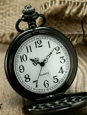 Classic Smooth Pocket Watch in Black