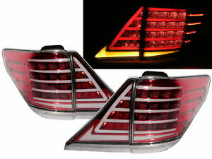 Vellfire AH20W MK2 2008-2015 MPV 5D LED Tail Rear Light Red/Clear for TOYOTA