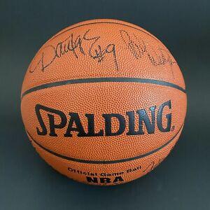 SIGNED 1993-94 PHOENIX SUNS GAME BALL AUTO CHARLES BARKLEY PAUL WESTPAUL MAJERLE