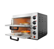 Double Electric Pizza Oven Cooking Machine Warming Equipment 220V 3Kw
