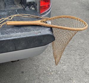 Vintage Wooden Framed Trout Landing Net