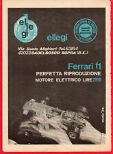Pubblicità Advertising Werbung 1970 ELLEGI Ferrari F1