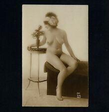 Busty nude Woman/Donna Nude atto-studio * VINTAGE 1910s French risque Photo PC