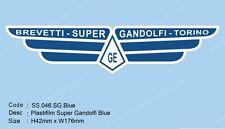 Plastifilm Super Gandolfi Mudflap Sticker Vespa Lambretta   SS.046.SG. Blue Ulma