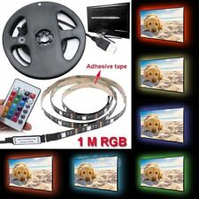 RGB LED Bias Lighting For TV LCD HDTV Monitors USB LED Strip Background Light 1M