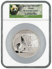 2016 China 50 Yuan 150g Proof Silver Panda NGC PF69 UC (Panda Label) SKU42194