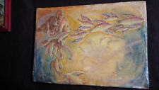 Encaustic Painting on Wood Board - Artist Unknown - Unframed 20th Century 11x16