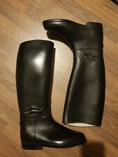Womens Size 5 Black Leather Riding Boots