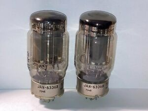 Tung-Sol 6336B JAN Tubes, Matched Pair, Tested, Matched Codes, Graphite Plates