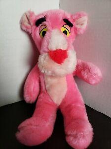 Vintage Pink Panther Plush 1980 Stuffed Animal Pink Toy Mighty Star