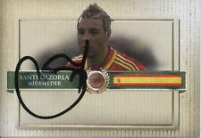 Santi Cazorla Arsenal España 21/25 Camiseta Futera 2015 conquistadores firmado tarjeta autógrafo