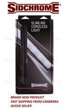 NEW Sidchrome Slimline LED Cordless Work Light 240 lumens 240v USB Charger Torch