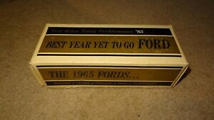 1965 Ford promotional model car BOX ONLY. 65 promo Galaxie XL LTD Mustang? TBird