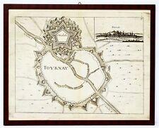 Kupferstich Plan Tournai Belgien Bouttats Galeazzo Gualdo Priorato Wien 1673