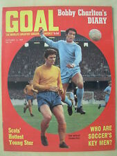GOAL MAGAZINE OCTOBER 12 1968 TOTTENHAM TONY HATELEY NOBBY STILES - MIKE O'GRADY