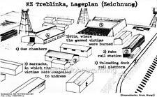 Print. ca 1943. Diagram of KZ Treblinka Nazi Concentration Camp