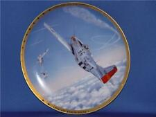 ONE OF FOUR THAT DAY AMERICAN FIGHTER ACES PLANE PLATE  ROY GRINNELL NEW