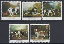 1991 GB SG1531-SG1535 DOG PAINTINGS BY GEORGE STUBBS FINE MINT SET OF 5  MNH