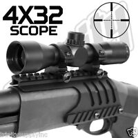 Remington 870 Saddle Mount  WITH 4x32 Compact Scope Combo Rings.