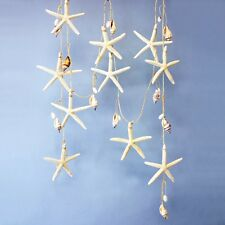 9' STARFISH SEASHELL COASTAL NAUTICAL CHRISTMAS TREE GARLAND XMAS DECORATION