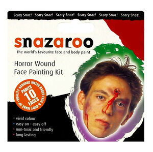 SNAZAROO HORROR WOUND FACE PAINTING THEME PACK
