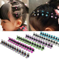 12PCS Fashion Flower Crystal Hair Clip Clamp Fashion Girls Kids Hair Accessories