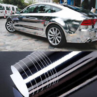 Silver Car Glossy Chrome Mirror Wrap Film Vinyl Roll Sheet Sticker Decal