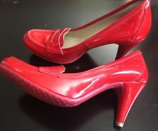 New Fornarina Women's Leather Pumps - Red - 8 US/38 Euro
