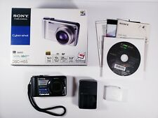 Sony Cybershot DSC-H55 14.1MP Black Digital Camera 10x Zoom w/ Box & Manuals