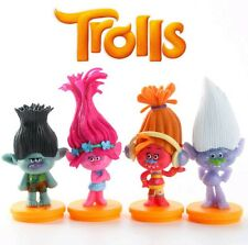 Trolls Movie Poppy Guy Diamond Branch DJ Suki Toys Figurine Cake Topper x 4pcs