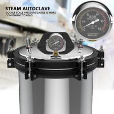 18L Stainless Steel High Pressure Steam Autoclave Sterilizer Equipment 2 Heating
