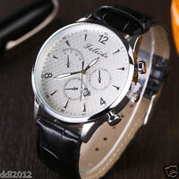 XR2188 Fashion Men's Leather Band Date Military Sport Chronograph Wrist Watches