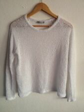 Atmosphere Light Bobbly Knit Top Size 14 White <R9607