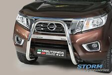 Nissan Navara NP300 2015> Stainless Steel MACH HIGH Front A-Bar BULL Bar - 63mm