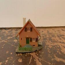 Vintage Plastic Brown Residential House Model Railroad N Scale